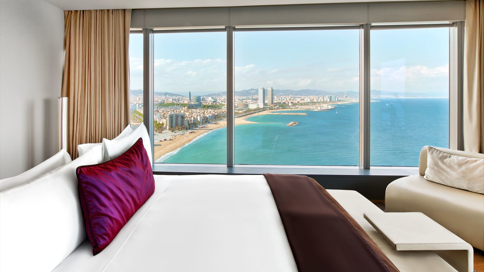 w hotels barcelona w barcelona extreme wow suite best rates guaranteed. Black Bedroom Furniture Sets. Home Design Ideas
