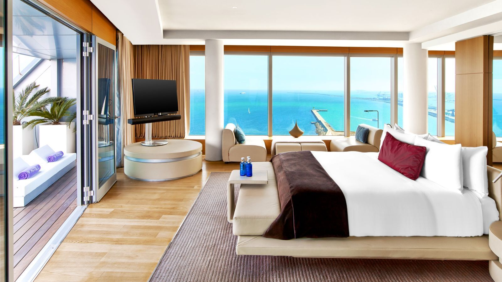 5 star hotel extreme wow suite bedroom at W Barcelona
