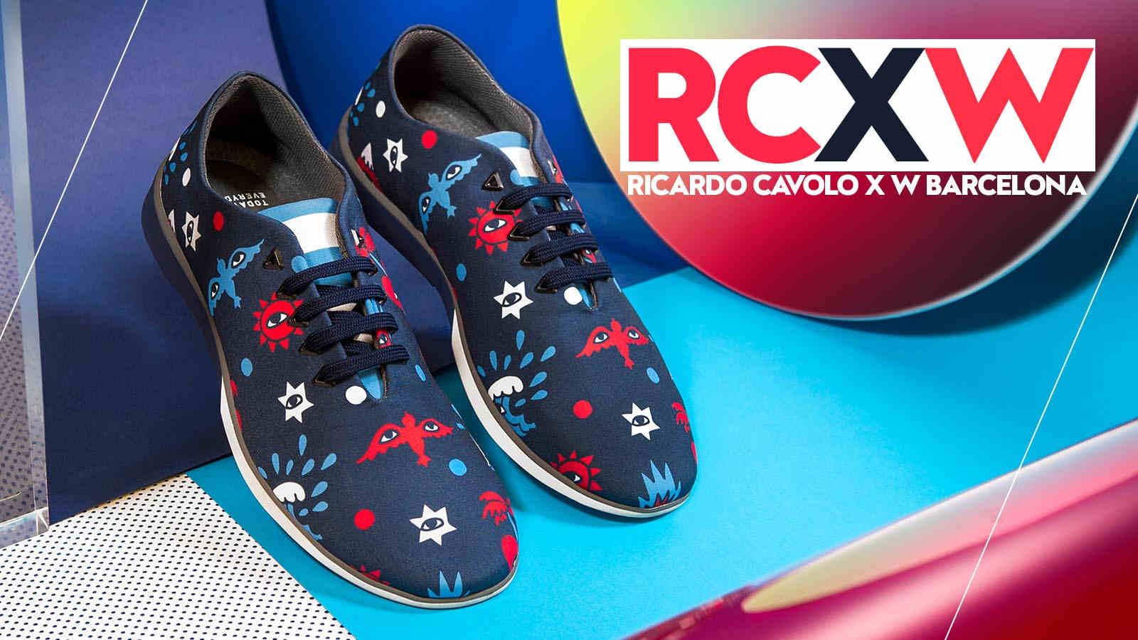 Limited edition sneakers designed by Ricardo Cavolo exclusively for W Barcelona