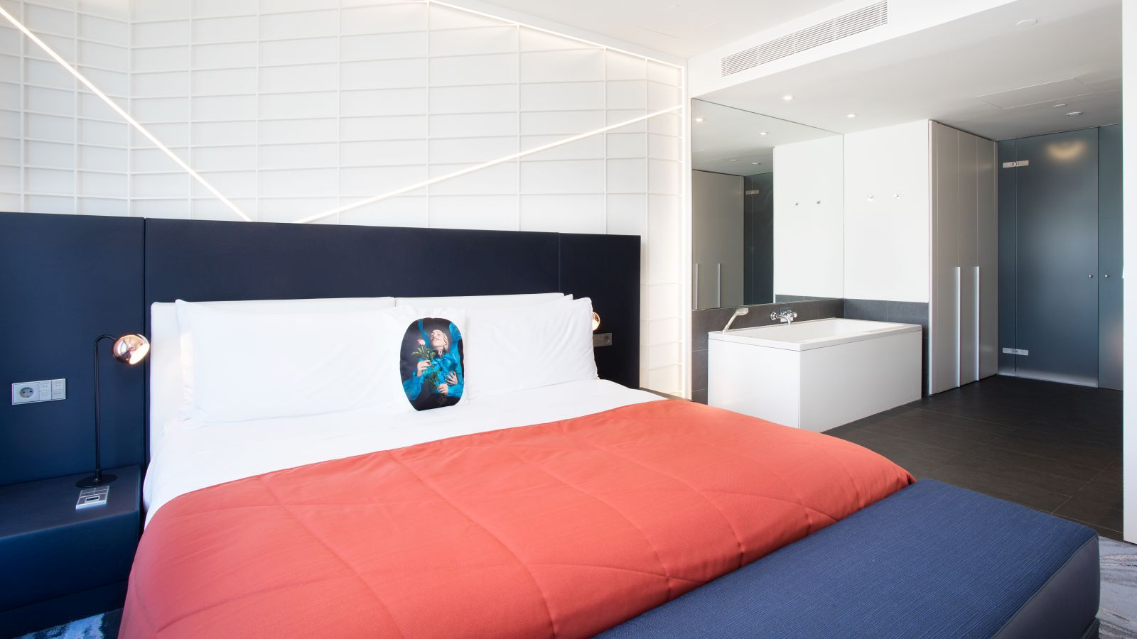 Studio Suite bedroom at W Barcelona