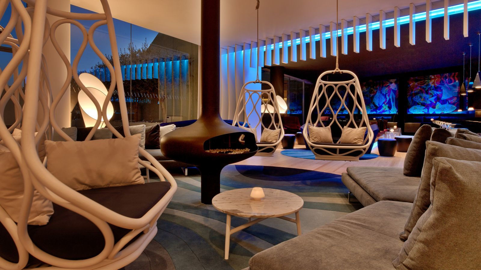 W hotels barcelona w barcelona w lounge best rates guaranteed - Eigentijdse design lounge ...