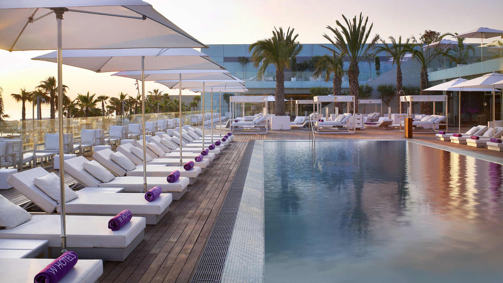 Swimming Pool At W Hotel Barcelona