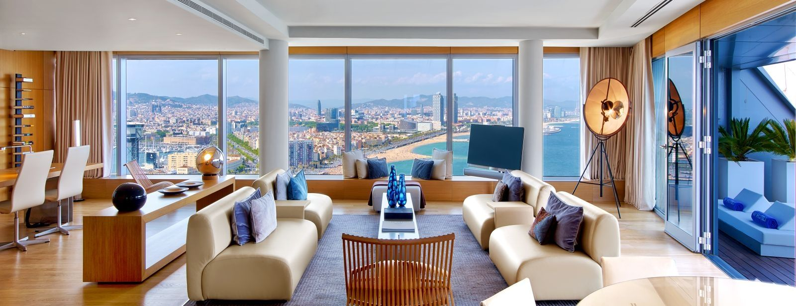 W hotels barcelona w barcelona extreme wow suite best for Design hotel w barcelona